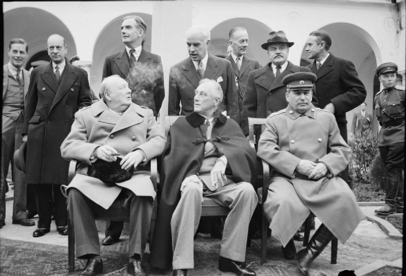 Churchill, Roosevelt, Stalin a Yalta